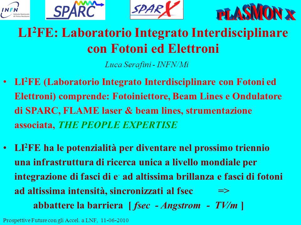 Prospettive Future con gli Accel. a LNF, 11-06-2010 LI 2 FE: Laboratorio Integrato Interdisciplinare con Fotoni ed Elettroni Luca Serafini - INFN/Mi L