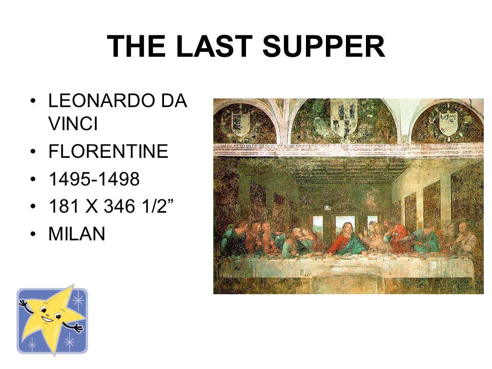 MONA LISA LEONARDO DA VINCI FLORENTINE 1503-1505 30 1/4 X 21 THE LOUVRE, PARIS http://library.thinkquest.org/1 3681/data/link2.htm