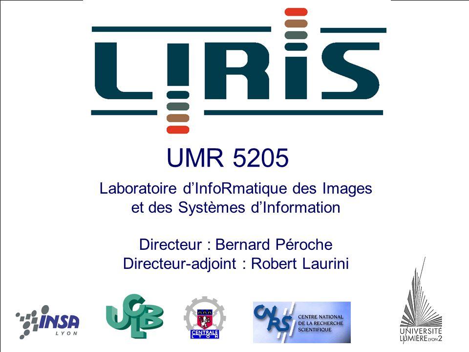 UMR 5205 Laboratoire d'InfoRmatique des Images et des Systèmes d'Information Directeur : Bernard Péroche Directeur-adjoint : Robert Laurini