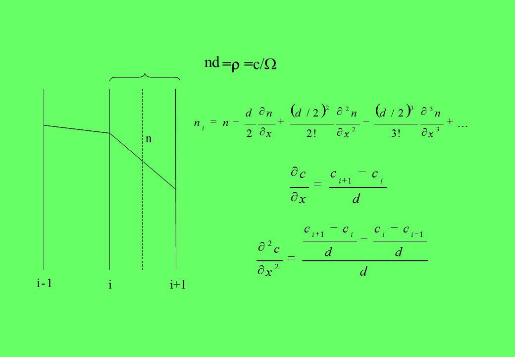 i-1 ii+1 n nd             3 3 3 2 2 2 !3 2/ !2 2/ 2 x nd x nd x nd nn i d cc x c ii      1 d d cc d cc x c iiii 11 2 2        i-1 ii+1 n = =c/= =c/             3 3 3 2 2 2 !3 2/ !2 2/ 2 x nd x nd x nd nn i d cc x c ii      1 d d cc d cc x c iiii 11 2 2       