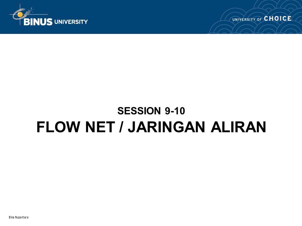 Bina Nusantara SESSION 9-10 FLOW NET / JARINGAN ALIRAN