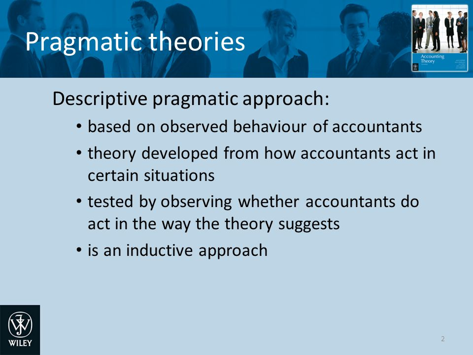Normative theories The decision process 13 Accounting system of company X Prediction model of user Decision model of user