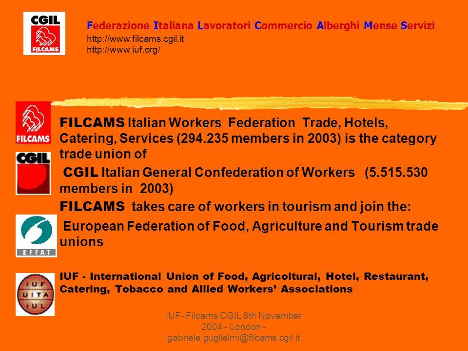 IUF- Filcams CGIL 8th November 2004 - London - gabriele.guglielmi@filcams.cgil.it The European Trade Union Liaison Committee on Tourism