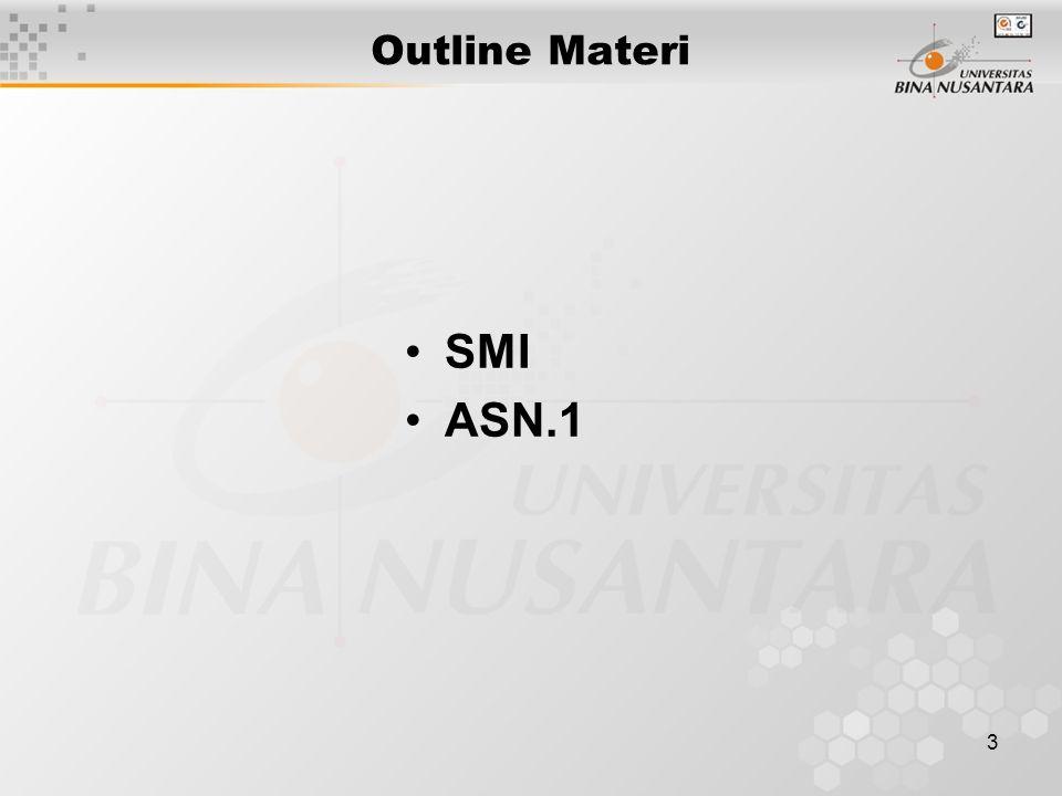 4 Information Model Structure of Management Information (SMI)-RFC1155 Managed Object Scalar Aggregate or tabular object Management Information Base (RFC 1213)