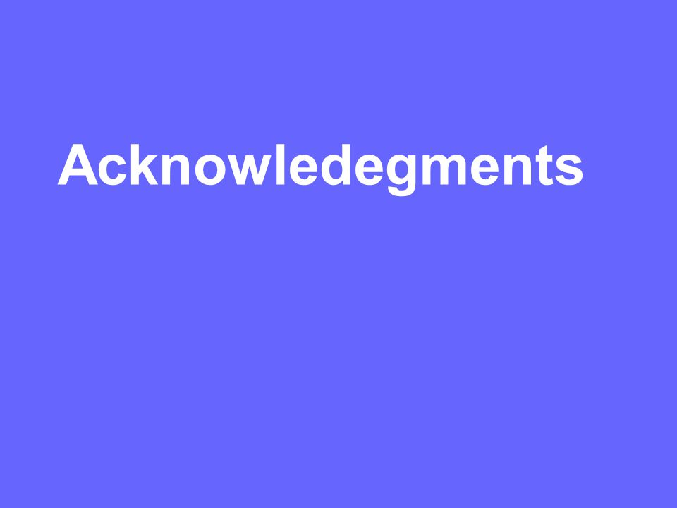 Acknowledegments