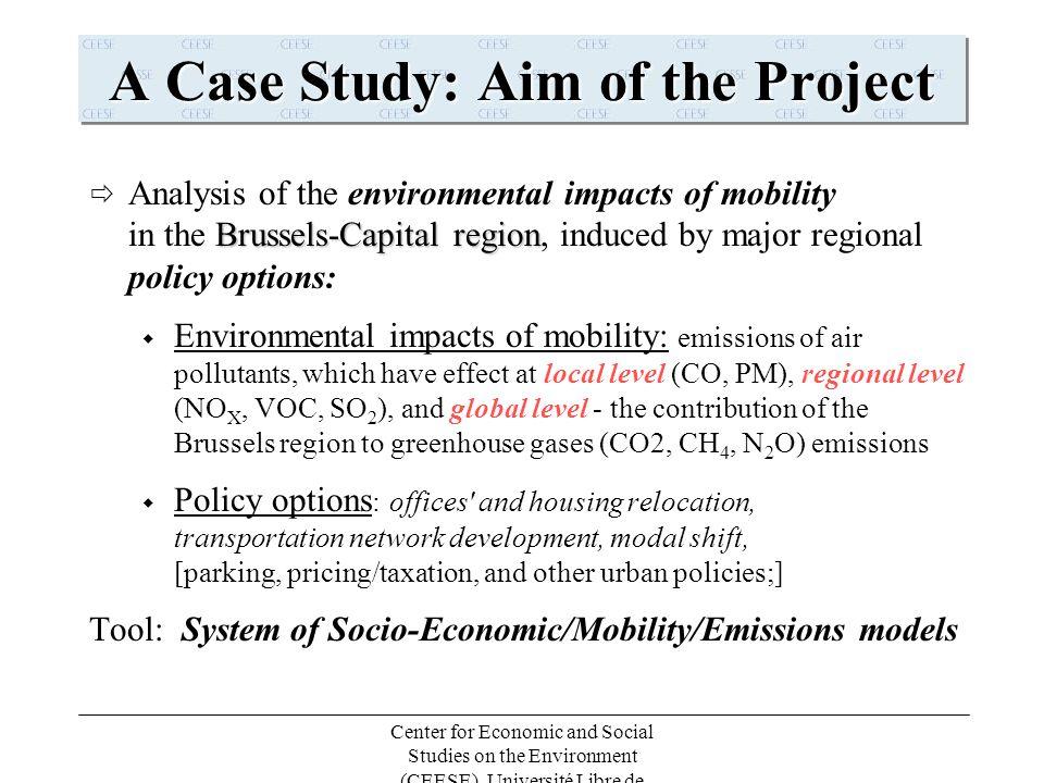 Center for Economic and Social Studies on the Environment (CEESE), Université Libre de Bruxelles (ULB)