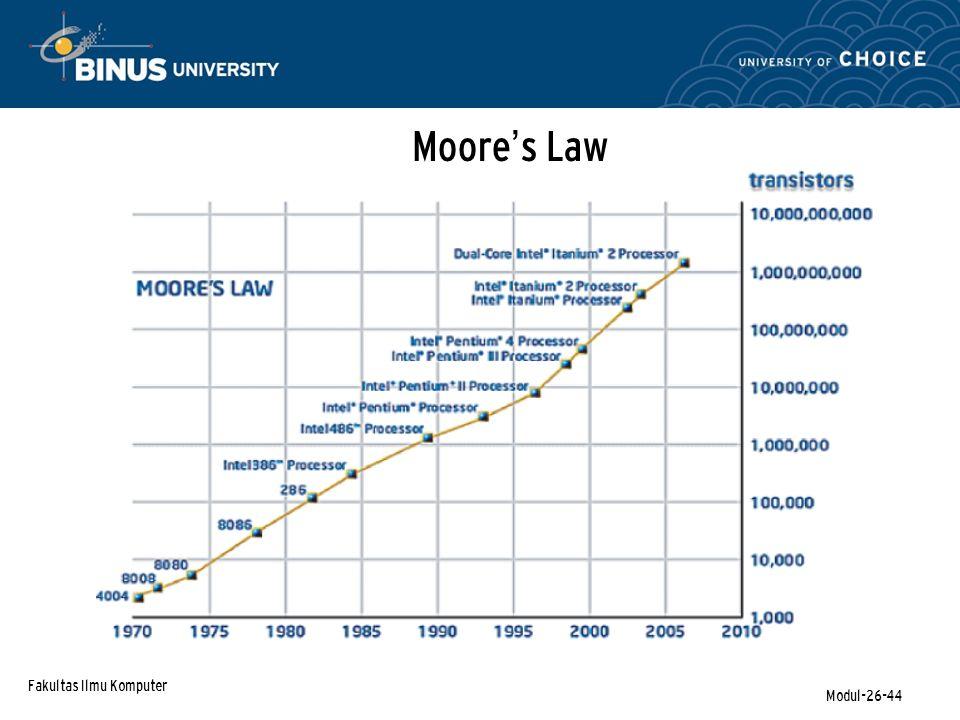 Fakultas Ilmu Komputer Modul-26-44 Moore ' s Law