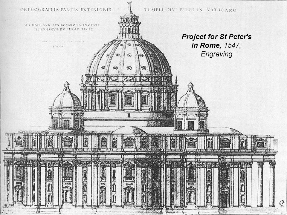 Faзade of the Farnese Palace, 1548, Palazzo Farnese, Rome