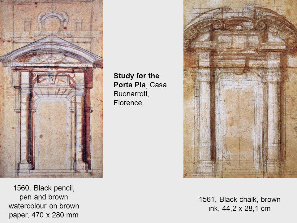 Plan for a Church, 1560, Ink Casa Buonarroti, Florence