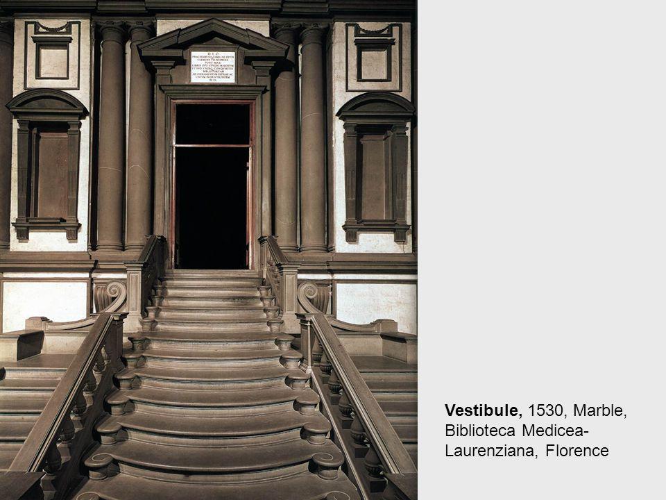 Staircase in the Vestibule, 1530, Marble, Biblioteca Medicea-Laurenziana, Florence