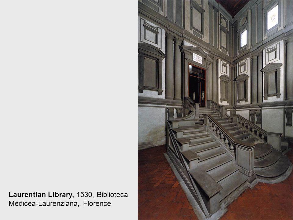 Vestibule, 1530, Marble, Biblioteca Medicea- Laurenziana, Florence