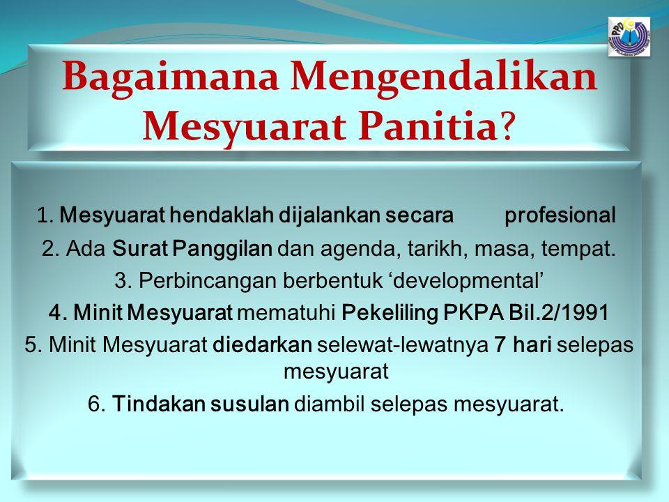 Agenda dan Pengurusan Mesyuarat.