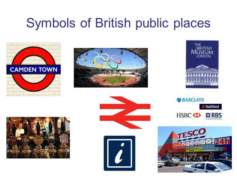 Symbols of British public places