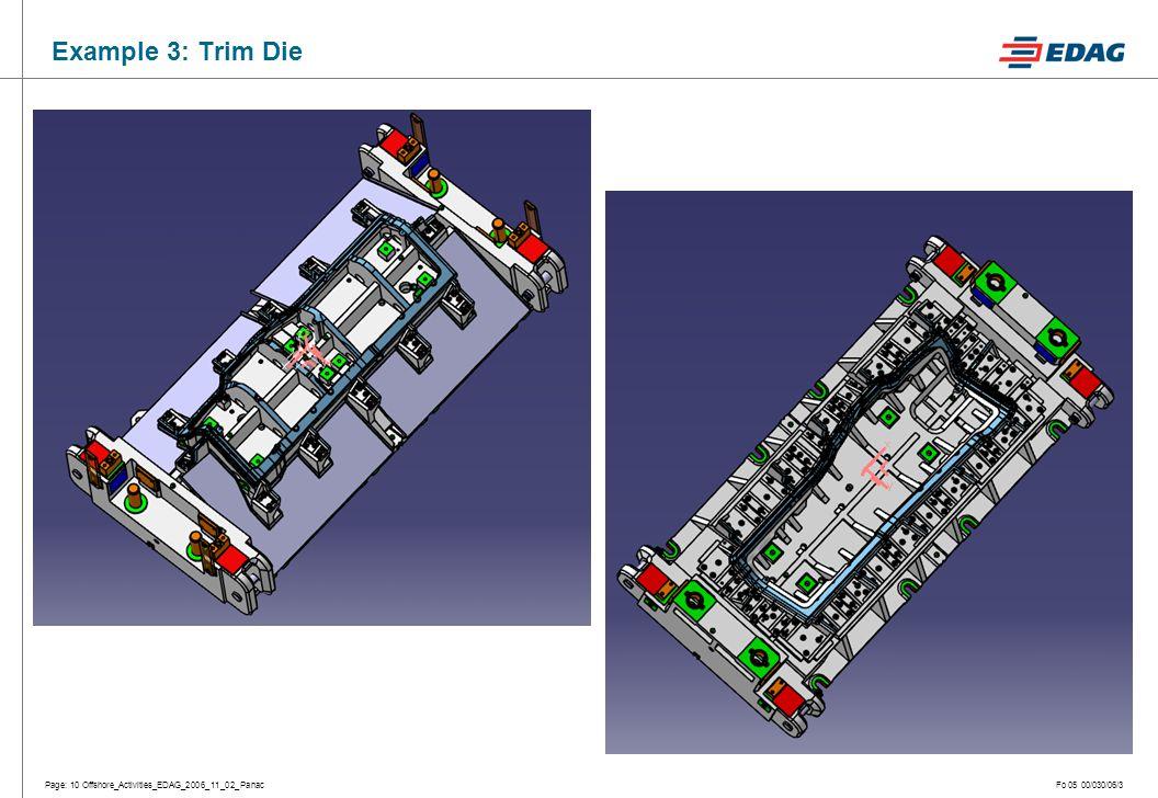 Page: 10 Offshore_Activities_EDAG_2006_11_02_PanacFo 05 00/030/06/3 Example 3: Trim Die