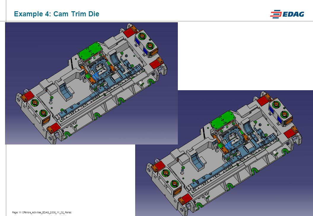Page: 11 Offshore_Activities_EDAG_2006_11_02_PanacFo 05 00/030/06/3 Example 4: Cam Trim Die