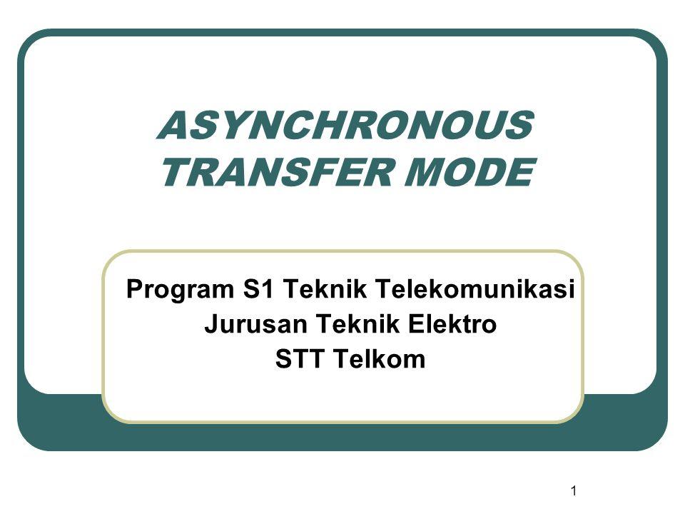 1 ASYNCHRONOUS TRANSFER MODE Program S1 Teknik Telekomunikasi Jurusan Teknik Elektro STT Telkom