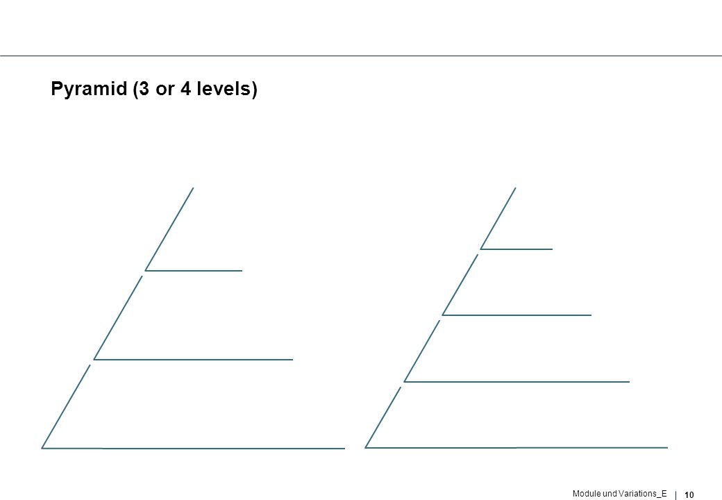 10 Module und Variations_E Pyramid (3 or 4 levels)