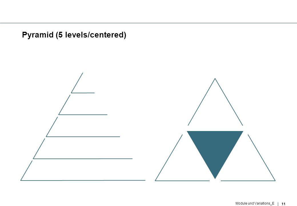11 Module und Variations_E Pyramid (5 levels/centered)