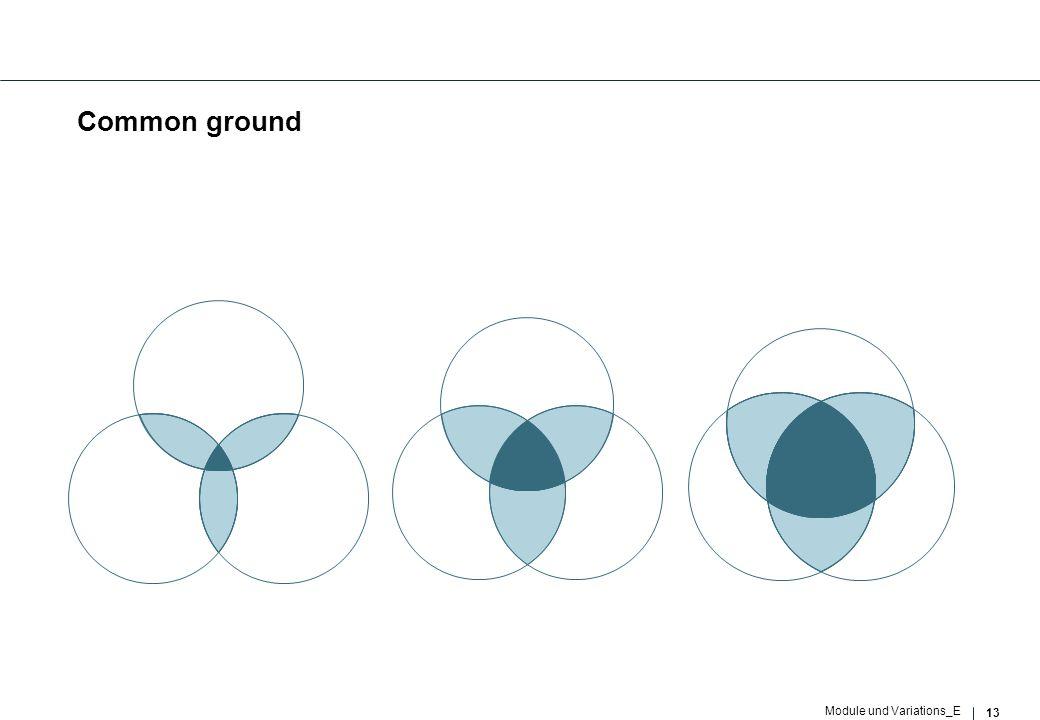 13 Module und Variations_E Common ground