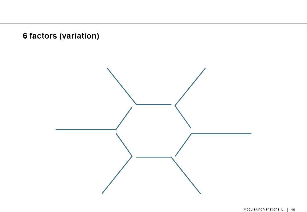 19 Module und Variations_E 6 factors (variation)