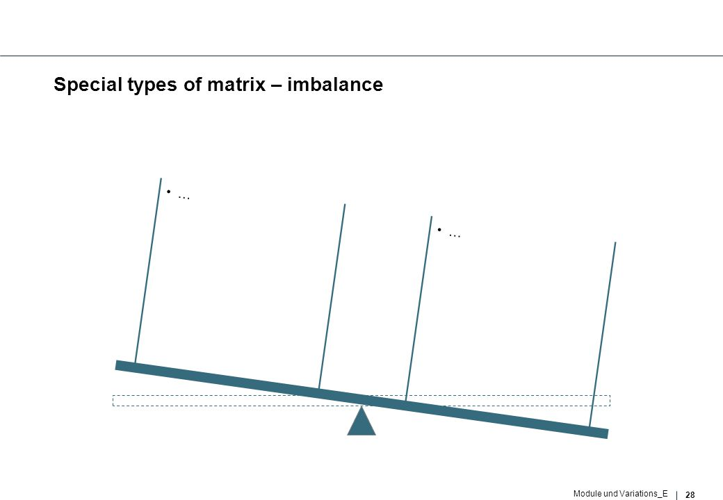 28 Module und Variations_E Special types of matrix – imbalance … …