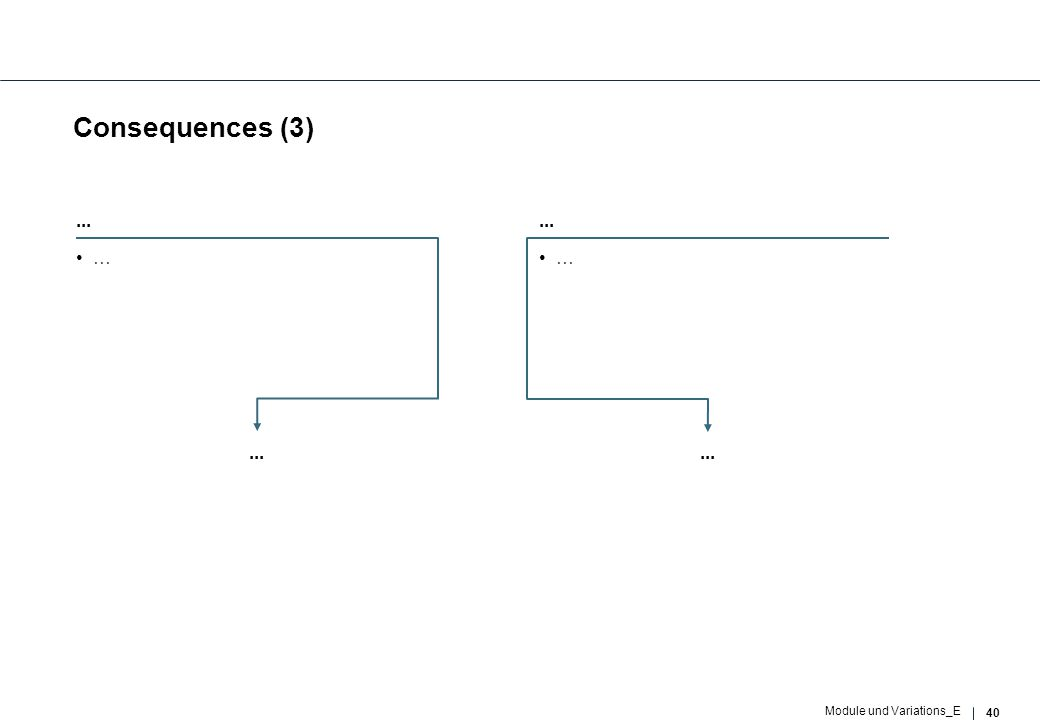 40 Module und Variations_E Consequences (3)... … …