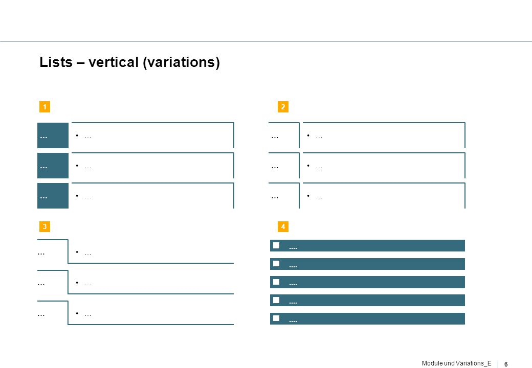 47 Module und Variations_E 6 success factors … Impact and result (1)