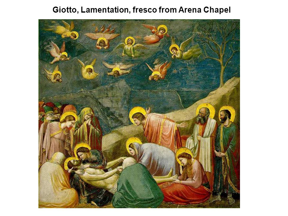 Giotto, Lamentation, fresco from Arena Chapel