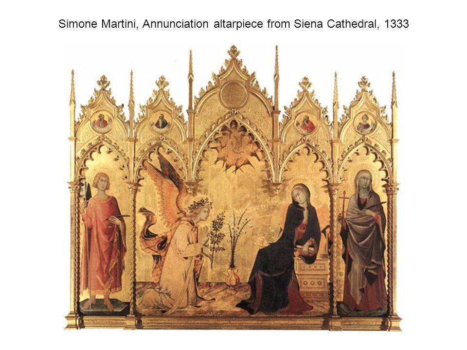 Simone Martini, Annunciation altarpiece from Siena Cathedral, 1333