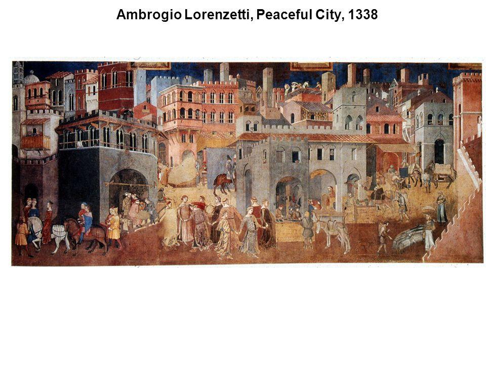 Ambrogio Lorenzetti, Peaceful City, 1338