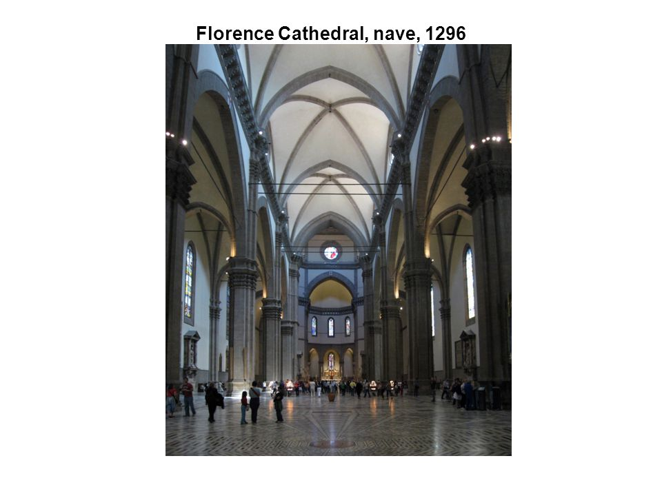Florence Cathedral, nave, 1296
