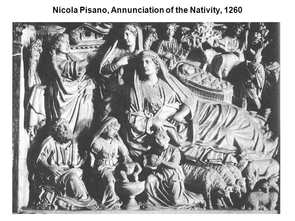 Nicola Pisano, Annunciation of the Nativity, 1260
