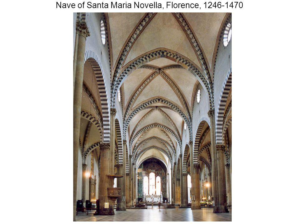 Nave of Santa Maria Novella, Florence, 1246-1470