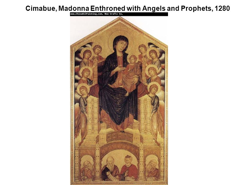Cimabue, Madonna Enthroned with Angels and Prophets, 1280