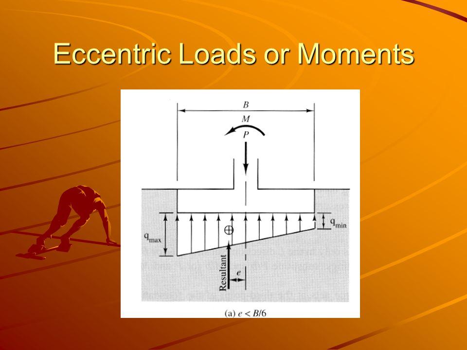 Eccentric Loads or Moments