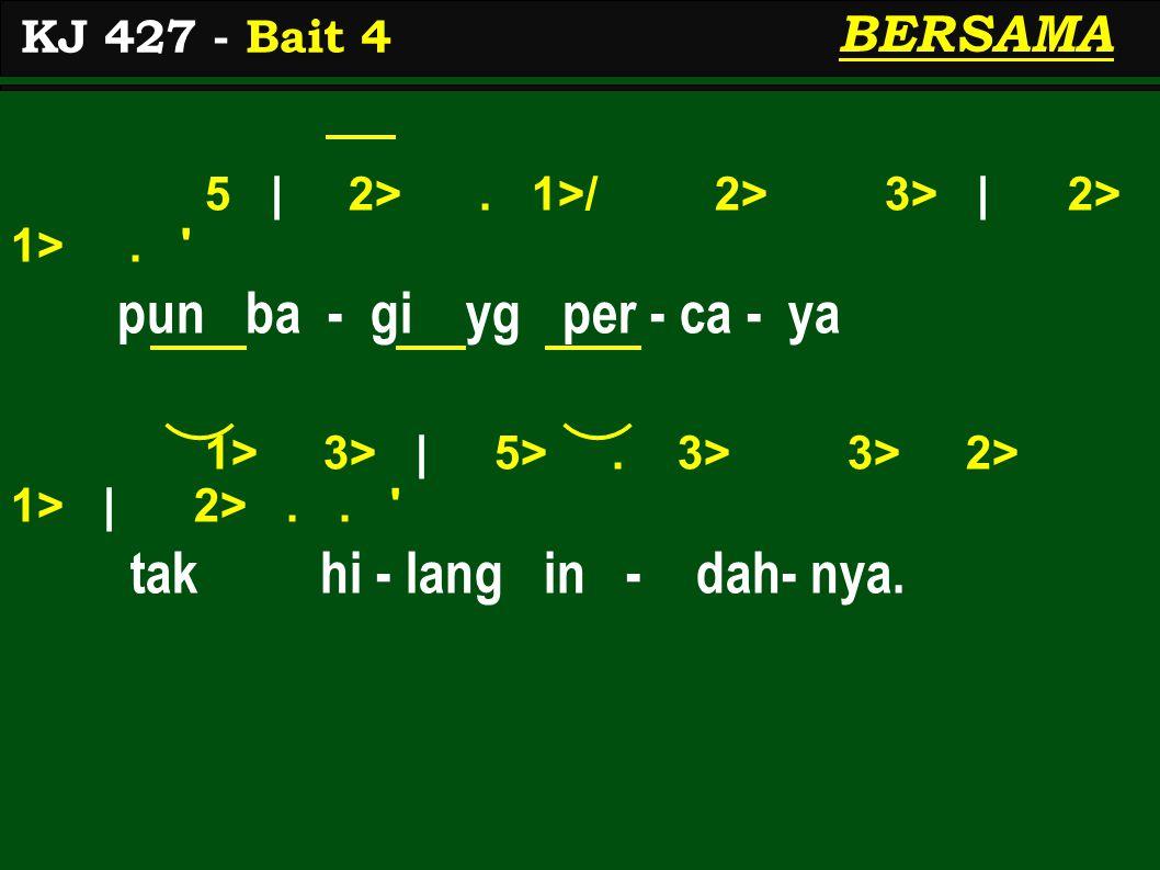 5 | 2>. 1>/ 2> 3> | 2> 1>. pun ba - gi yg per - ca - ya 1> 3> | 5>.