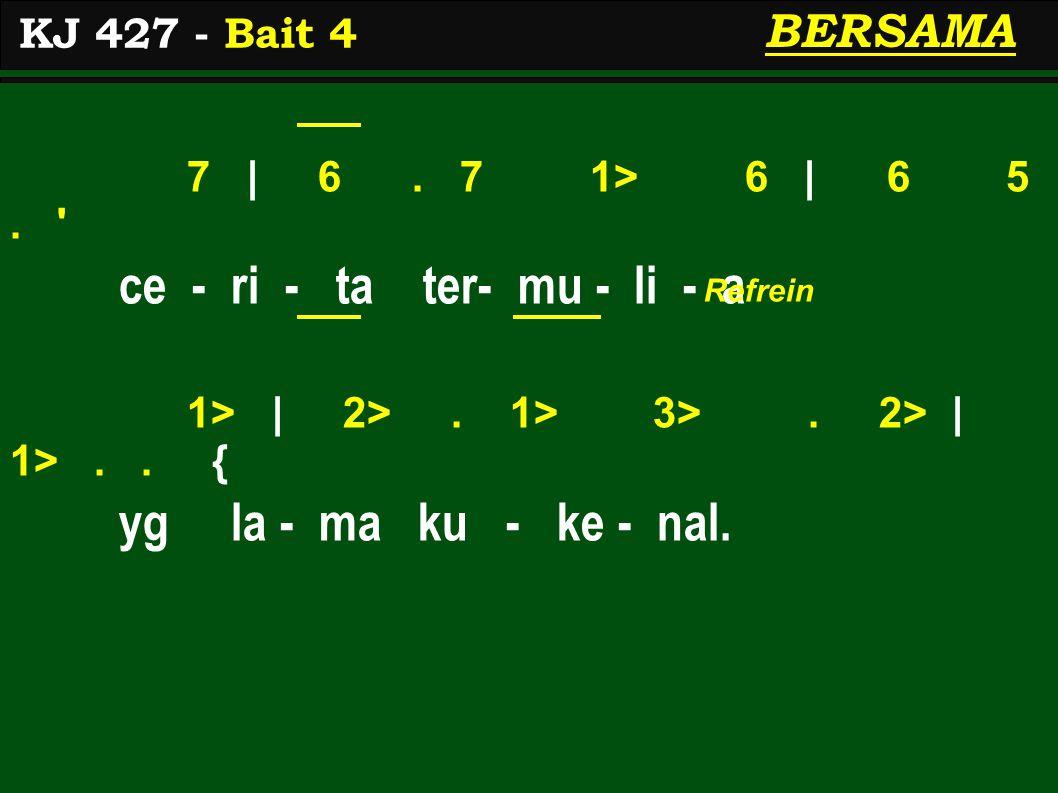7 | 6. 7 1> 6 | 6 5. ce - ri - ta ter- mu - li - a 1> | 2>.