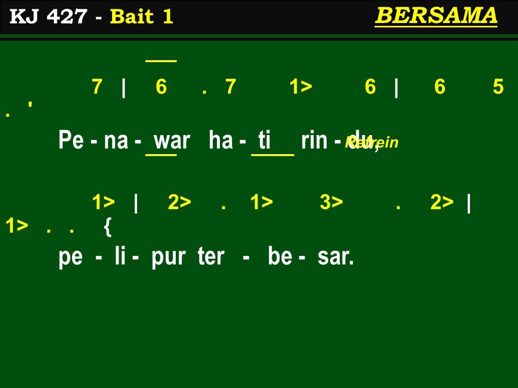 7 | 6. 7 1> 6 | 6 5. Pe - na - war ha - ti rin - du, 1> | 2>.