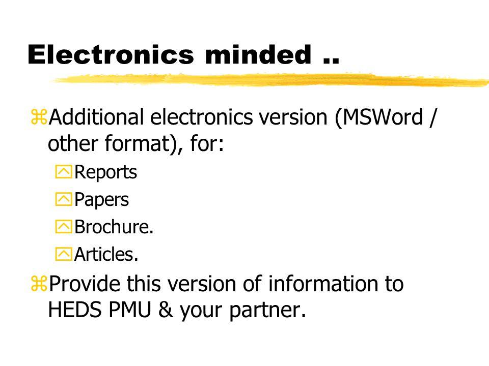 Electronics minded..
