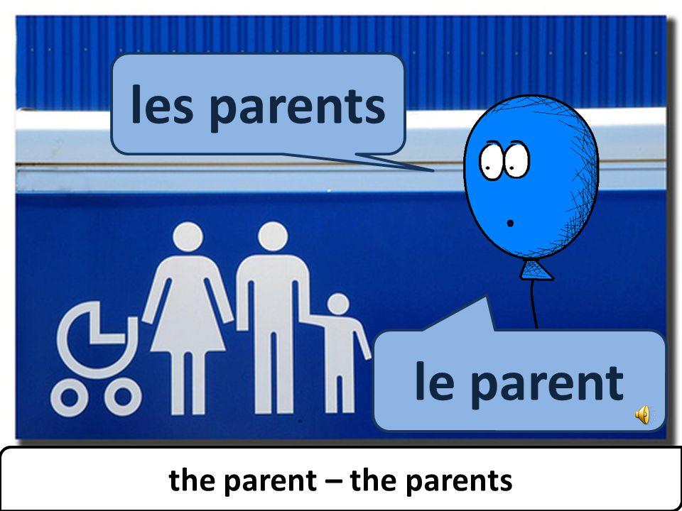 the parent – the parents les parents le parent the parent – the parents