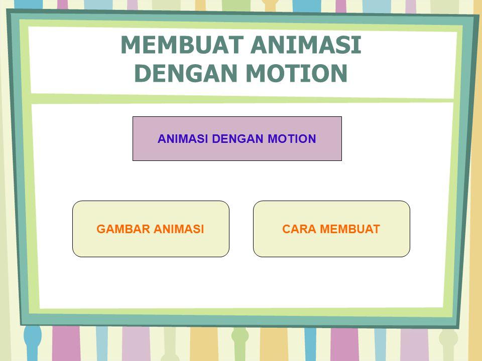 MEMBUAT ANIMASI DENGAN MOTION ANIMASI DENGAN MOTION GAMBAR ANIMASICARA MEMBUAT