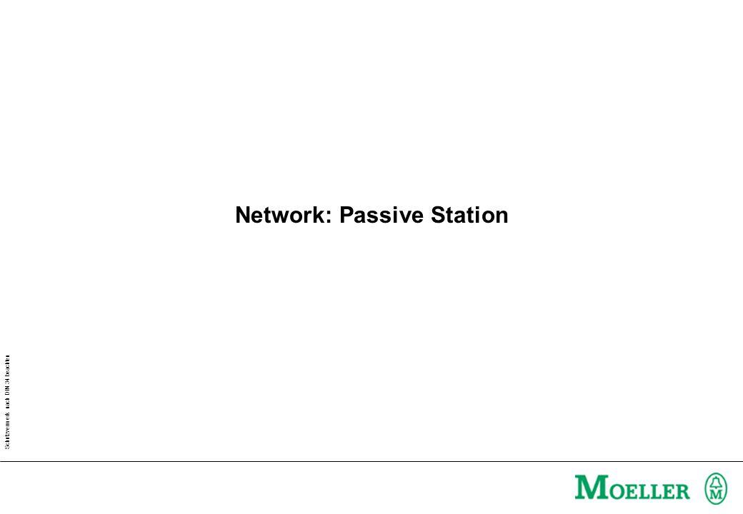 Schutzvermerk nach DIN 34 beachten Network: Passive Station