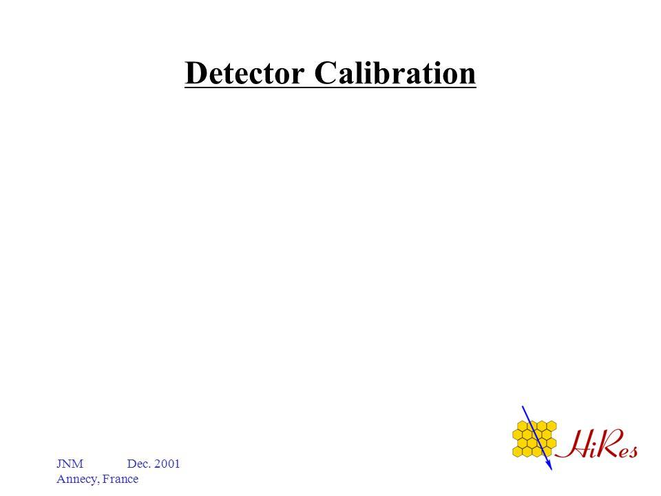 JNM Dec. 2001 Annecy, France Detector Calibration