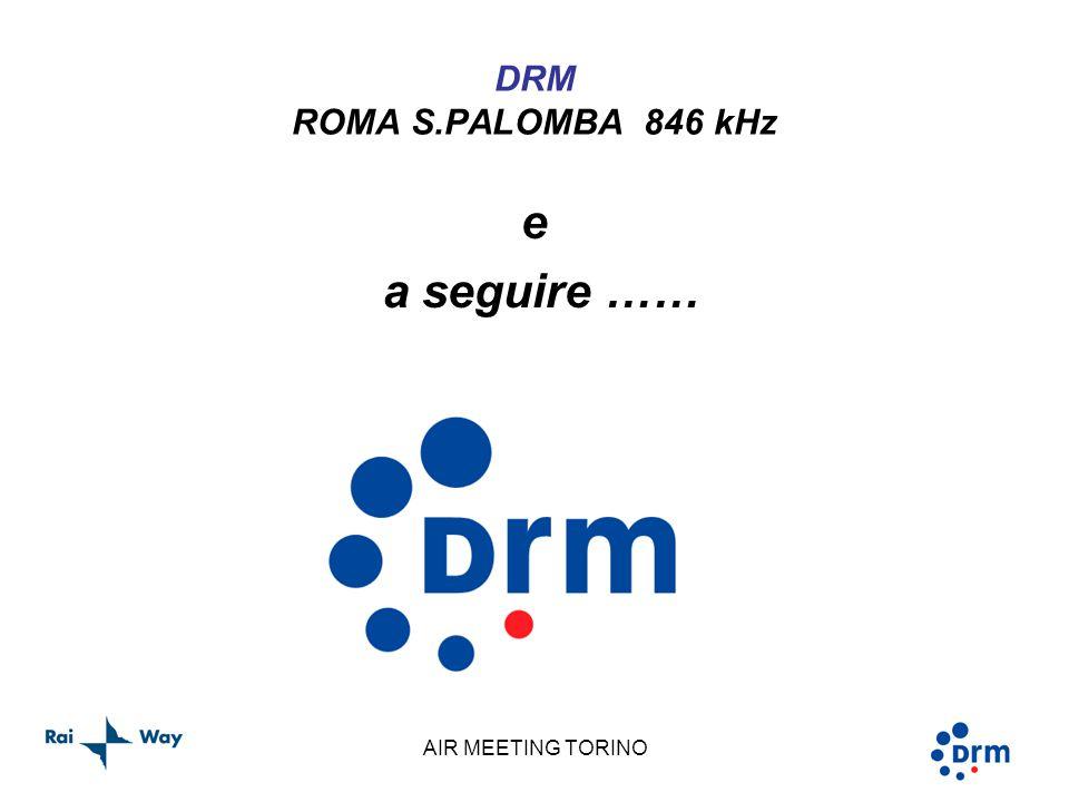 AIR MEETING TORINO DRM ROMA S.PALOMBA 846 kHz e a seguire ……