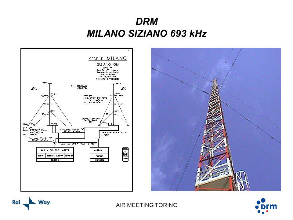 AIR MEETING TORINO DRM MILANO SIZIANO 693 kHz