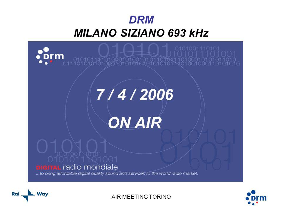 AIR MEETING TORINO DRM MILANO SIZIANO 693 kHz 7 / 4 / 2006 ON AIR