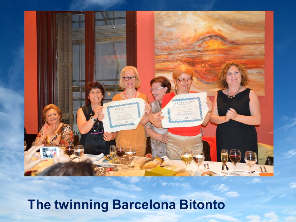 The twinning Barcelona Bitonto
