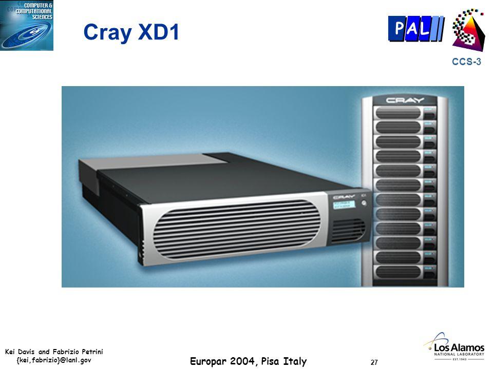 Kei Davis and Fabrizio Petrini {kei,fabrizio}@lanl.gov Europar 2004, Pisa Italy 27 CCS-3 P AL Cray XD1
