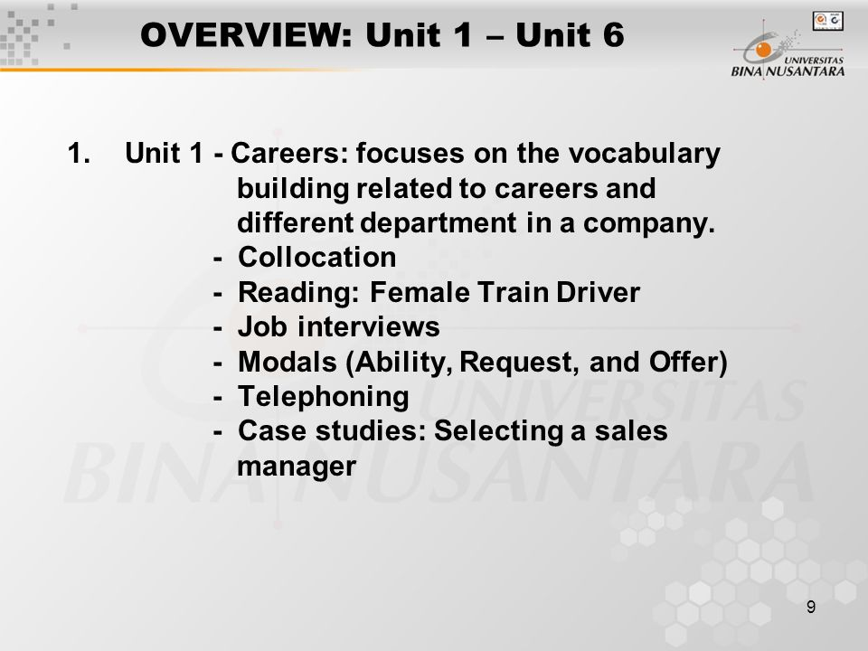 10 OVERVIEW: Unit 1 – Unit 6 (Contd.) Unit 2 – Selling online  Vocabulary and Listening on selling and shopping online  Reading: Virtual pocket money  Modals – 2 : must, need to, have to, should  Negotiating: Reaching agreement  Tips for negotiation  Case studies: Negotiation to merge two companies