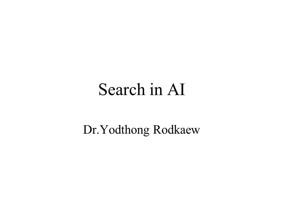 Search in AI Dr.Yodthong Rodkaew